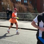 An FSP runner dressed for the occasion