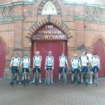 Our team of cyclists in Wokingham at 6AM on Saturday morning
