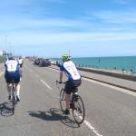 Cycling along the coast of Brighton