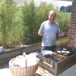Phil, manning the barbecue