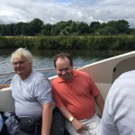 2016 boat trip thanks to Andrew's (pink shirt) fundraising efforts