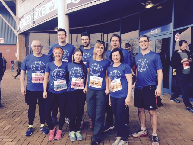 Our team of runners at last year's Reading Half