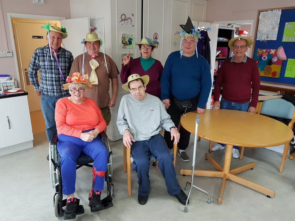 Some of our clients at our Centre in Henley showing off their personalised hats