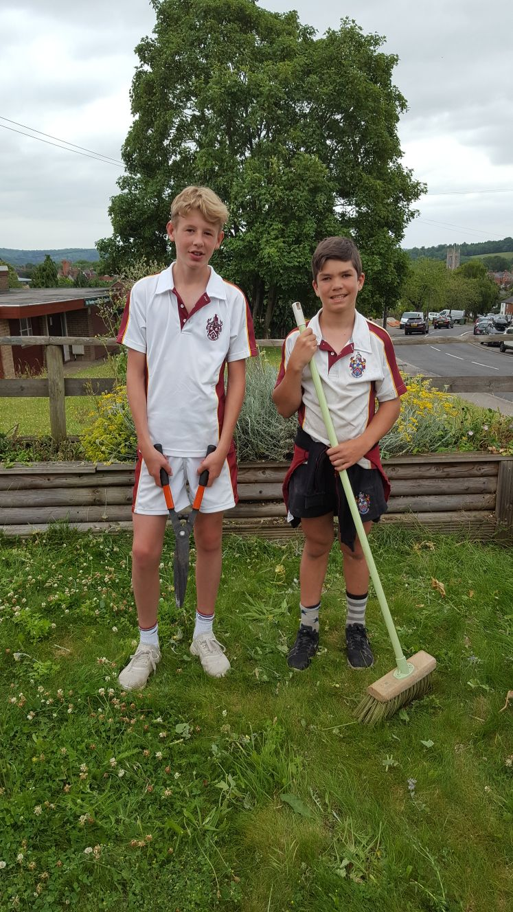Sheers! Sean, year 10 student (left) & Will, Year 9 student (right)