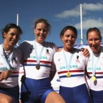 Debbie (right) at World Rowing Championships 2012