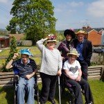 Hats for Headway in our garden